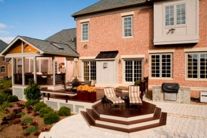 Octagonal IPE deck and custom-built screen porch in Rockville MD
