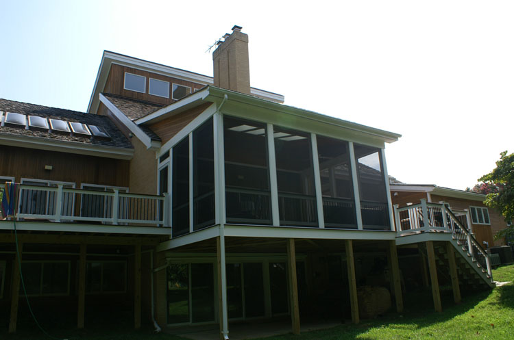 The eye of artful design potomac md home home with a for Shed roof screened porch plans