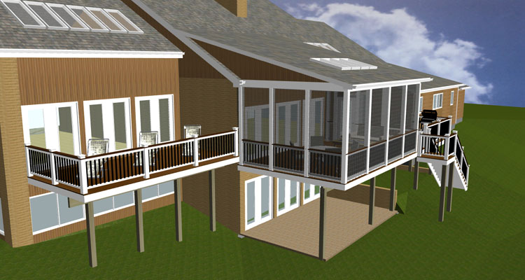 The eye of artful design potomac md home home with a for Porch plans shed roof