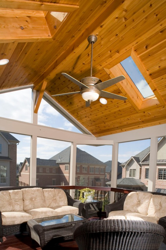 Rockville MD custom upscale screened porch builder