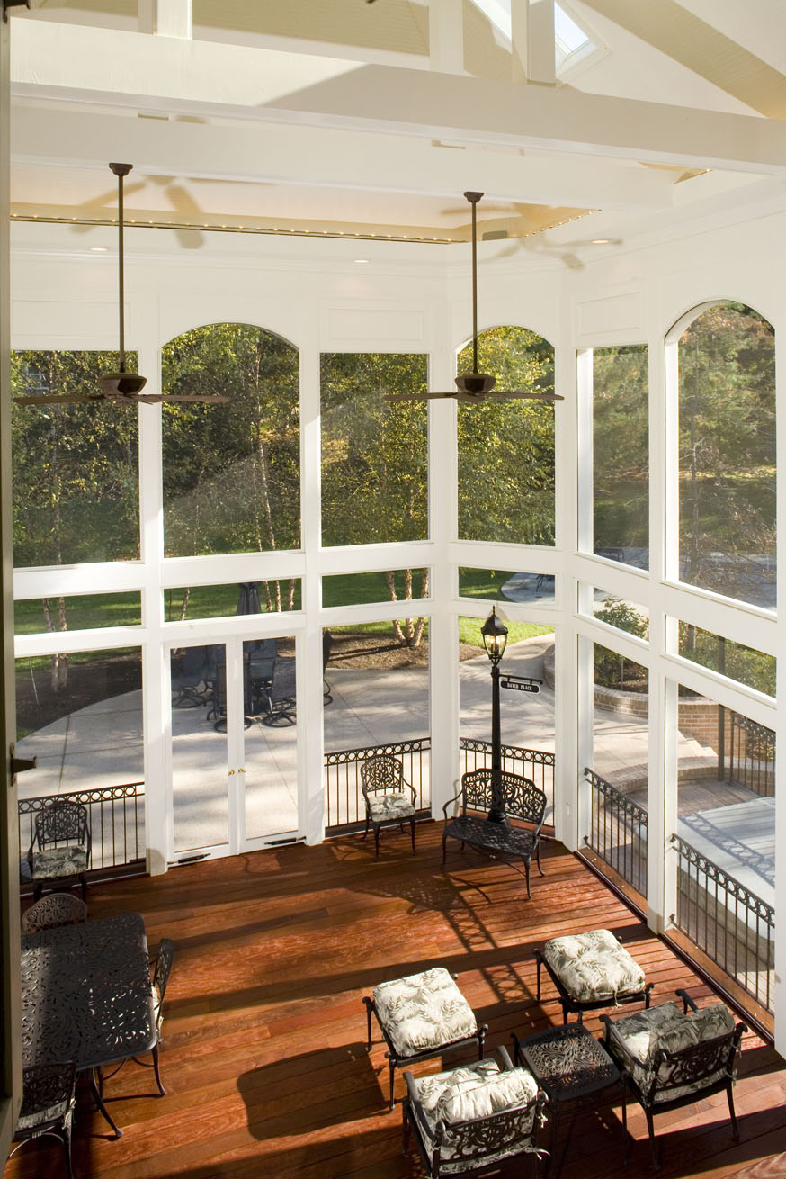Two Story Screened Porch Maryland Custom Outdoor Builder