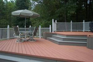 Composite pool decks such as this can transform your backyard into a spa-like oasis