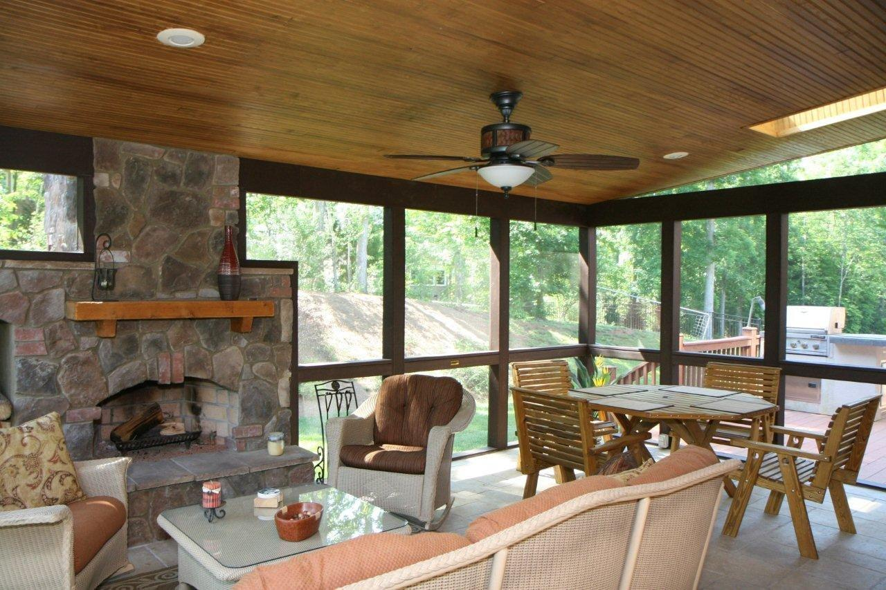 md_screened_porch_with_outdoor_fireplace another fine example of a screened porch with an outdoor fireplace - Outdoor Screened Porches
