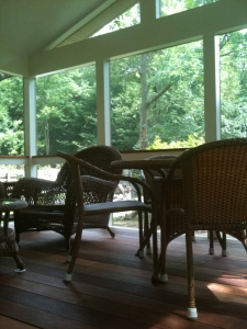 Bethesda MD mahogany  screen porch