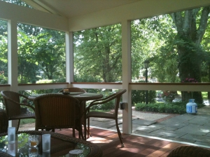 Another view of this lovely Bethseda, MD screened porch by Archadeck of Maryland