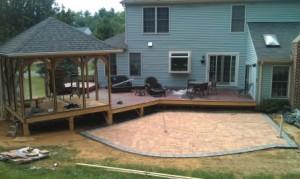 Silver Spring deck patio gazebo in progress