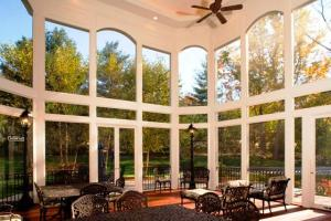 Interior of two story screened porch by Archadeck of Maryland