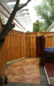 The privacy fence serves as much for visual appeal as it does for safety and seclusion.