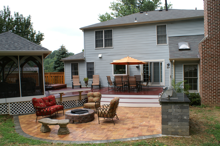 Silver Spring MD Cabana Style Gazebo, Patio, Deck And Hot Tub Deck