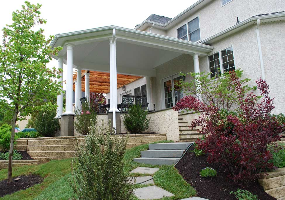 An open porch covered porch or screened porch that is Open porches