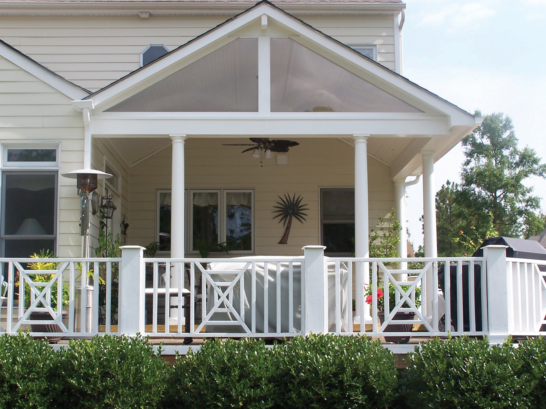 An open porch covered porch or screened porch that is for Porch roof designs