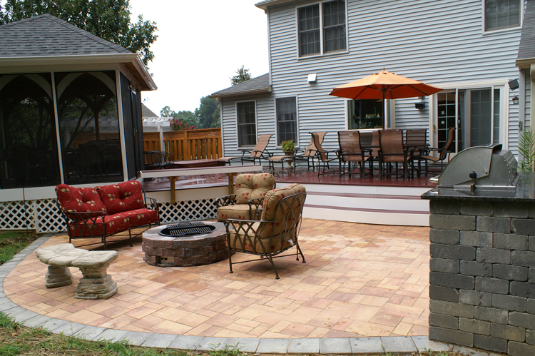 Deck And Pergola Combinations Maryland Custom Outdoor