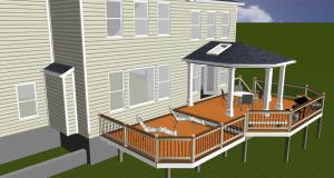 Design rendering in Highland, MD by Archadeck of Maryland