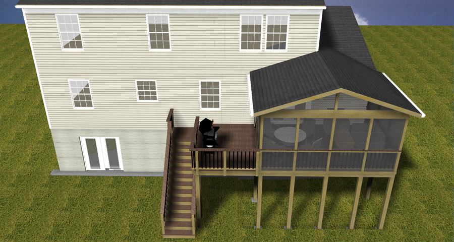 Design Renderings Maryland Custom Outdoor Builder