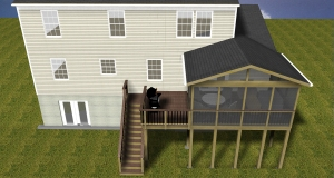 Gaithersburg screen porch Gaithersburg deck builder