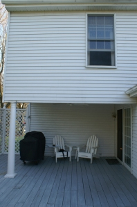 This area will encompass the  new Columbia, MD screened / enclosed porch.