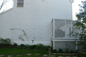 "This ""before"" photo shows the side of the  Columbia, MD home prior to  Archadeck of Maryland starting construction."