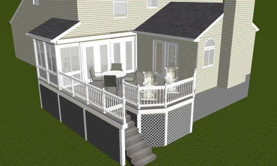 Screen porch builder Columbia MD deck builder