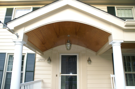 The addition of this portico by Archadeck of Maryland gives this Rockville, MD home a new outlook.
