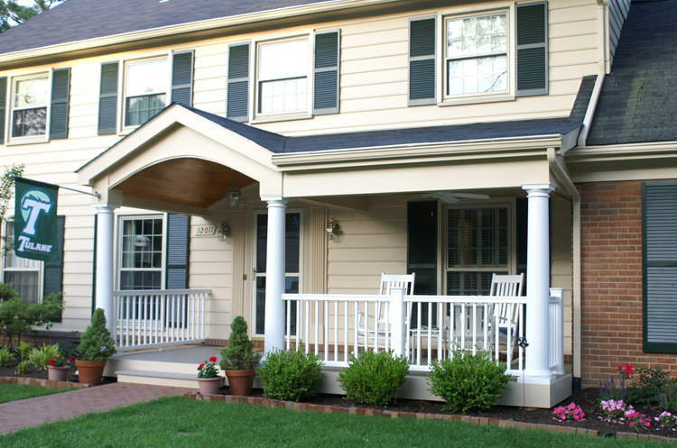 This photo shows the new and improved front porch area perfect for these  Rockville, MD