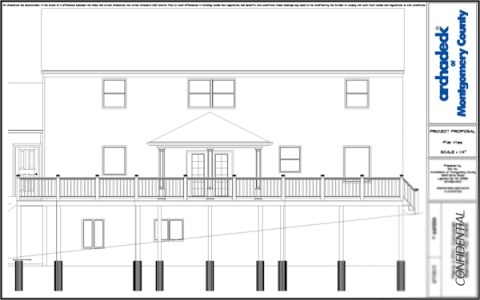 Chevy Chase deck builder back elevation