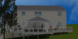 Complete view of Chevy Chase, MD deck and open porch by Archadeck of Maryland