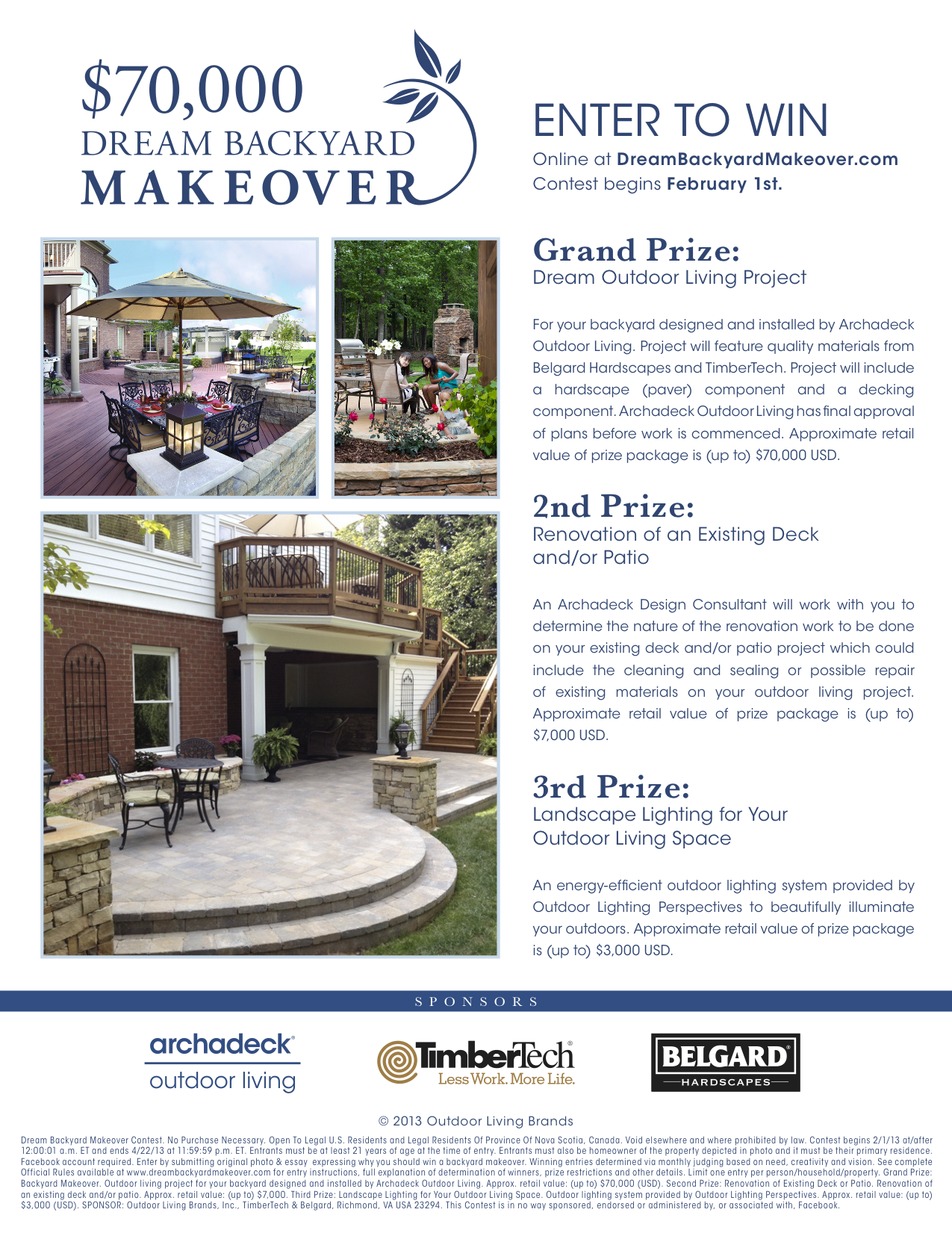 Backyard Makeover Sweepstakes : Dream Backyard Makeover Contest from Archadeck!  Maryland Custom