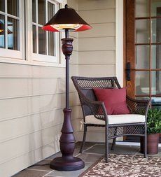 Yes, this is actually an outdoor heater that looks like an elegan upscale floor lamp! This one is made by Northgate.