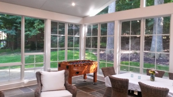 Relaxing interior of this Potomac, MD, Eze Breeze 3-season room addition