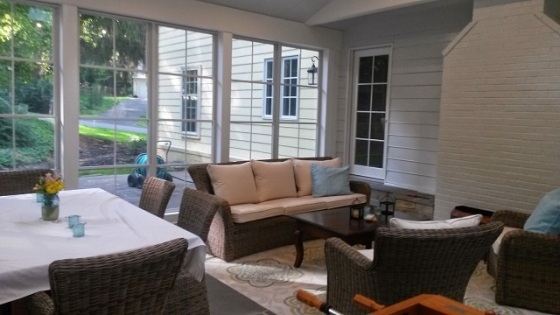 Versatility abounds in this Eze Breeze convertible porch by Archadeck in Potomac,MD