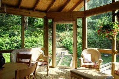 Pressure-Treated Screened Porch Inside View