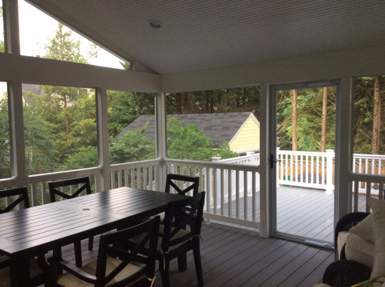 Bethesda MD deck and screened porch combinations