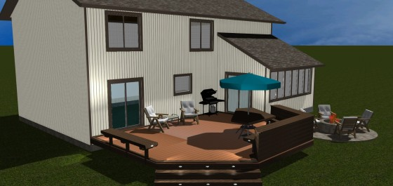 Design rendering for Montgomery Village Redecking Project