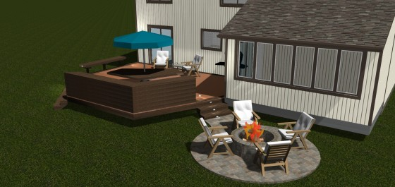 Design rendering for Montgomery Village R\redecking project